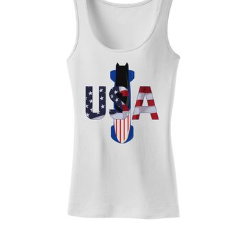 USA Bobsled Womens Petite Tank Top by TooLoud