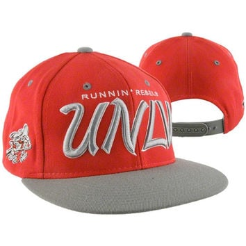 UNLV Rebels Scarlet/Gray Headliner Two-Tone Snapback Adjustable Hat