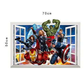 Disney Kids 3D sticker The Avengers Marvel cartoon Children's room decoration iron-Man kindergarten stickers autocollant enfant