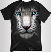 White Tiger T-shirt T-shirts White Tiger Face T-shirt T-shirts Hoodie Hoodies Tank Top Tank Tops Sweatshirt Sweatshirts Wild Life Animal Tee