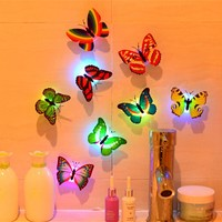 10 pcs 3D Butterfly Wall Stickers Home DIY Decor Wall Decals For Living Room, Bedroom, Kitchen, Toilet, Kids Room Decor #YH22