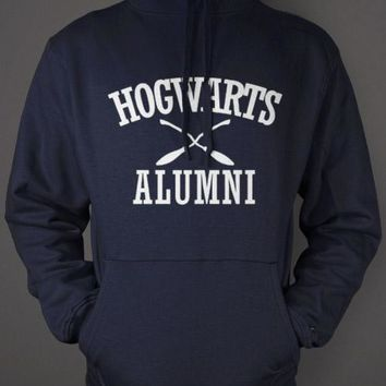 Hogwarts Alumni Hoodie - Harry Potter Blue Sweatshirt
