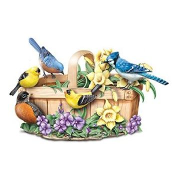 Touch-Activated Lifelike Singing Bird Sculpture: Springtime Serenade by The Bradford Exchange