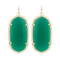 Kendra Scott Danielle Green Earrings 14K Gold
