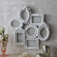 Ornate Multi Frame,shabby chic, distressed