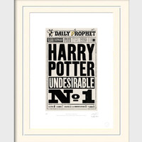 Daily Prophet Undesirable Signed Print