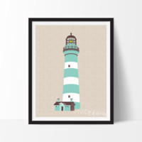 Teal Lighthouse