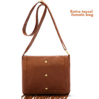Brown Simple Tassle Bag Cyber Monday Deal