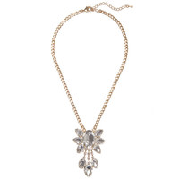 Crystal Bloom Pendant | Jeweliq Statement Necklaces
