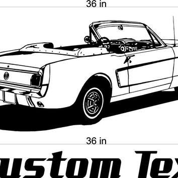 Ford Mustang Car Wall Decals Stickers Man Cave Boys Room Decor 3 FEET Wide