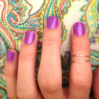 Above knuckle wire rings. Set of 2. FREE SHIPPING