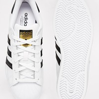 adidas Originals Superstar White & Black Trainers