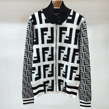 Fendi Women Fashion Casual Knitwear Cardigan Jacket Coat