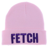 Mean Girls Fashion Apparel So Fetch Pink/Purple Beanie