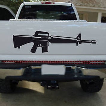 WEAPON GUNS PISTOL RIFLE Window Bumper Sticker DECAL 01