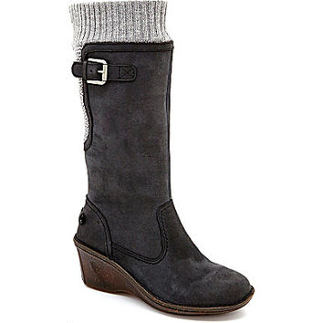 UGG® Australia Skyfall Knit Wedge Boots - Black