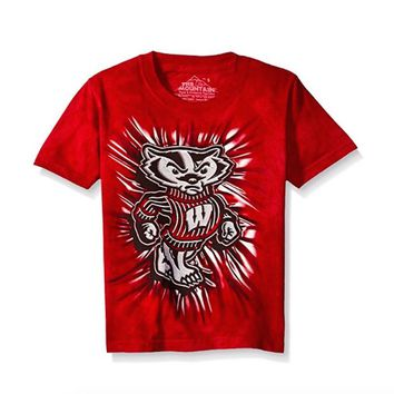 Wisconsin Badgers Youth T-shirt Mascot Tee by The Mountain