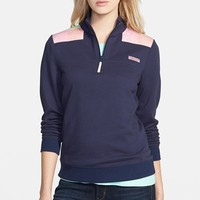 Women's Vineyard Vines Neon Patchwork Half Zip Shirt