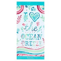 I Heart the Ocean Breeze Beach Towel