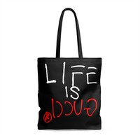 LIFE IS GUCCIⓇ Shopping Tote Bag