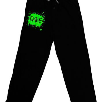 Rave Splatter Green Relaxed Adult Lounge Pants