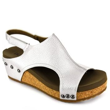 Volta Wedge In Silver By Corkys