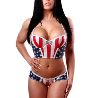 Patriotic bustier Has Molded Cups-Patriotic Collection