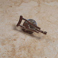 Silver Tone Crutch Tack Pin Lapel Pin Brooch Clutch Back Doctor Nurse Surgeon Medical Supply Jewelry