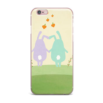 "Cristina bianco Design ""Cute Bunnies"" Beige Animals iPhone Case"