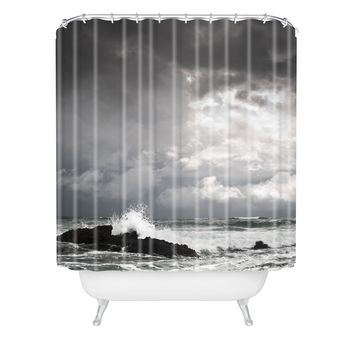 Bird Wanna Whistle White Water Shower Curtain