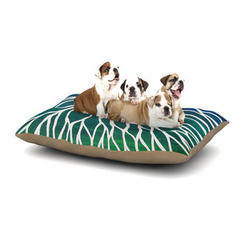 "NL Designs ""Ocean Flower"" Teal Green Dog Bed"