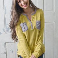 Counting On You Top (Mustard) - Piace Boutique