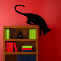 Vinyl Wall Decal Sticker Hanging Cat #5491