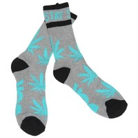 Heather Grey Mint DGK Stay Smokin Marijuana Crew Socks