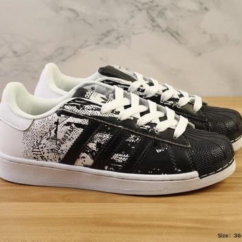 Adidas Superstar 80s Metal Toe White /Black  Running  Sneaker