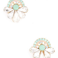 Diamonds for Breakfast Studs in Mint