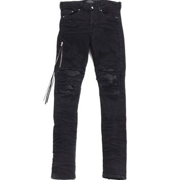 Indie Designs Distressed Layer MX2 Black Jeans