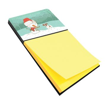 Jack Russell Terrier #2 Snowman Christmas Sticky Note Holder CK2091SN