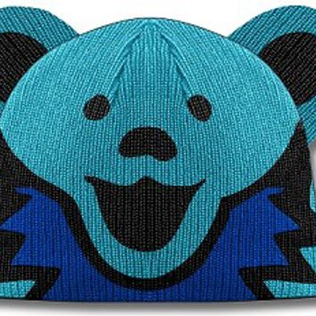 Grateful Dead - Dancing Bear Blue Knit Beanie Hat