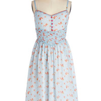 ModCloth Pastel Long Spaghetti Straps A-line Bring Down the Farmhouse Dress