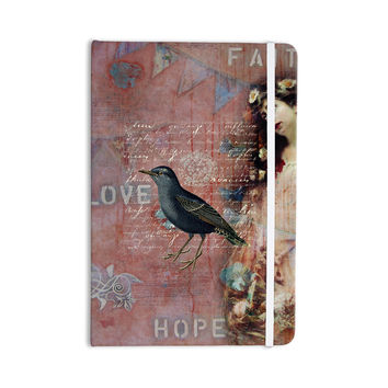"Suzanne Carter ""Faith Hope Love"" Pink Typography Everything Notebook"