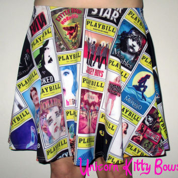 Broadway Musical Playbill Skater Skirt
