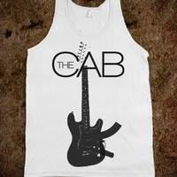 The Cab Angel With a Shotgun Band Tank Top-Unisex White Tank