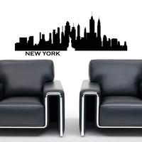 Wall Decals Vinyl Stickers New York City Skyline Silhouette  Home Decor for Living Room C027