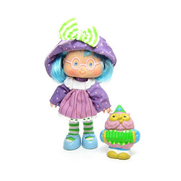 Plum Puddin Doll Party Pleaser Vintage Strawberry Shortcake with Elderberry Owl Pet