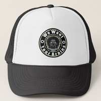 Zombie Face -Mint Green We Want Your Brains Trucker Hat