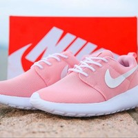 NIKE Roshe Women Men Running Sport Casual Shoes Sneakers Pink