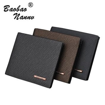 Wallet Men Purse Leather Male Wallets Card Coin Holder Vintage Minimalist Purses Money Clip 2017 Brand Short Men Wallets 2 Types