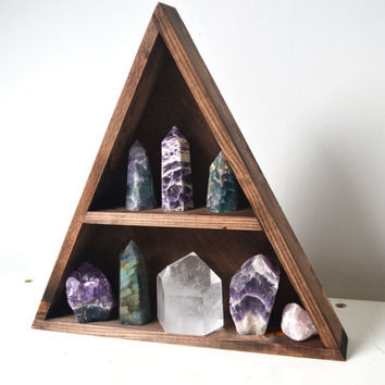 Geometric shelf, mountain shelf, crystal shelf, triangle shelf