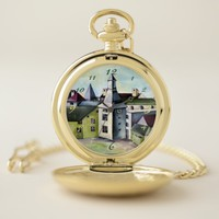 Liege, A Surreal Mystical Stone Castle - Detail Pocket Watch